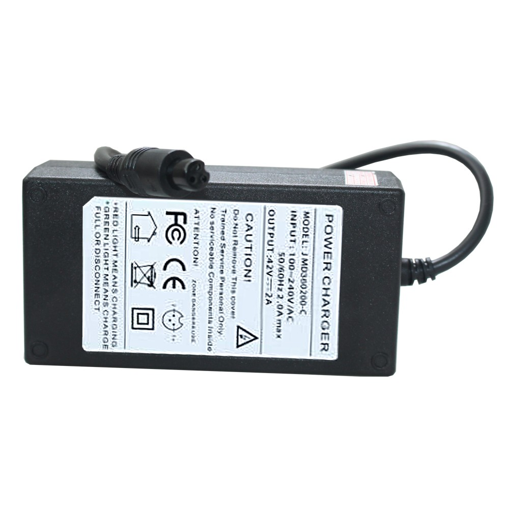 anewkodi 42v 2a charger with dc connector for 36v lithium