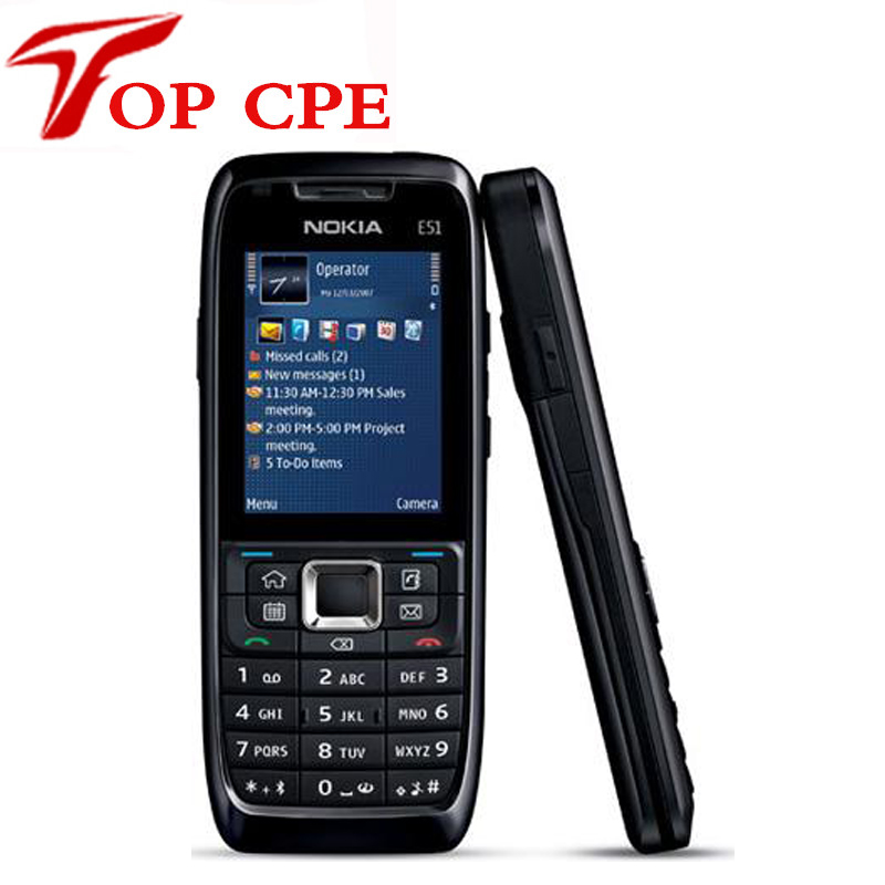 Original Refurbished Nokia E51 Mobile Phones WIFI Bluetooth JAVA Unlock Cell Phone Free Shipping In Stock(China (Mainland))