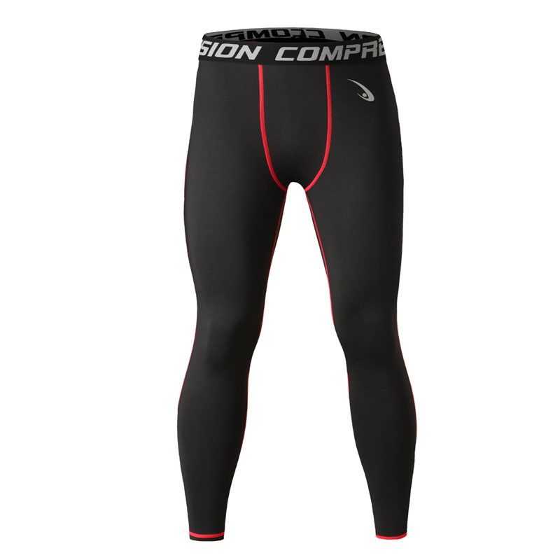 Mens Compression Jogging Pants Leggings Running Base Layer Fitness Trousers Tights Sport Training Gym Wear(China (Mainland))