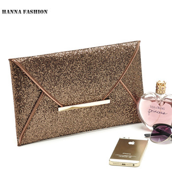 New arrival day clutches bags Women Evening Party Bags Gold Sequins Envelope Bag Purse Clutch Handbags Shiny Solid Ultrathin