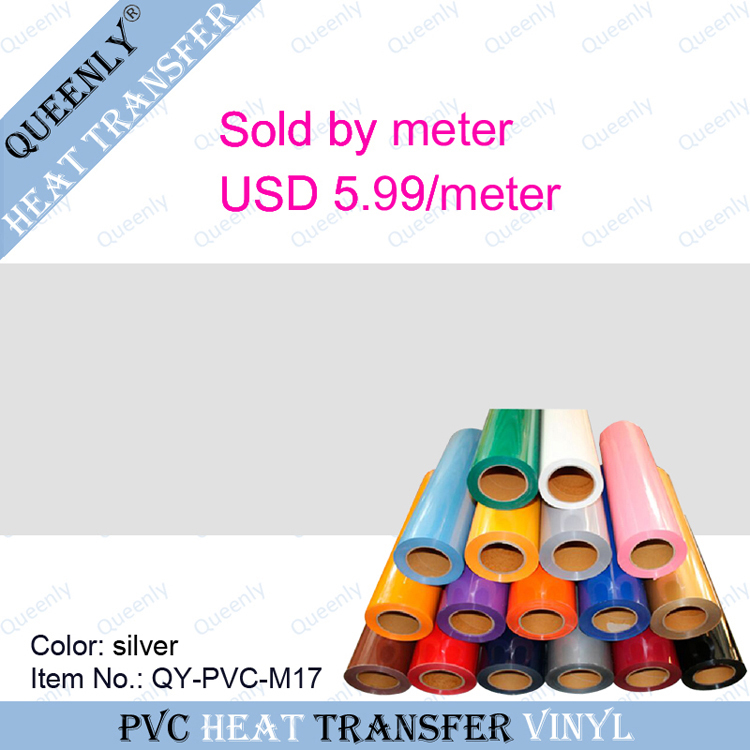 PVC thermo transfer vinyl film for t-shirt heat press material sold by meter 5 meters/pack width 50cm(China (Mainland))