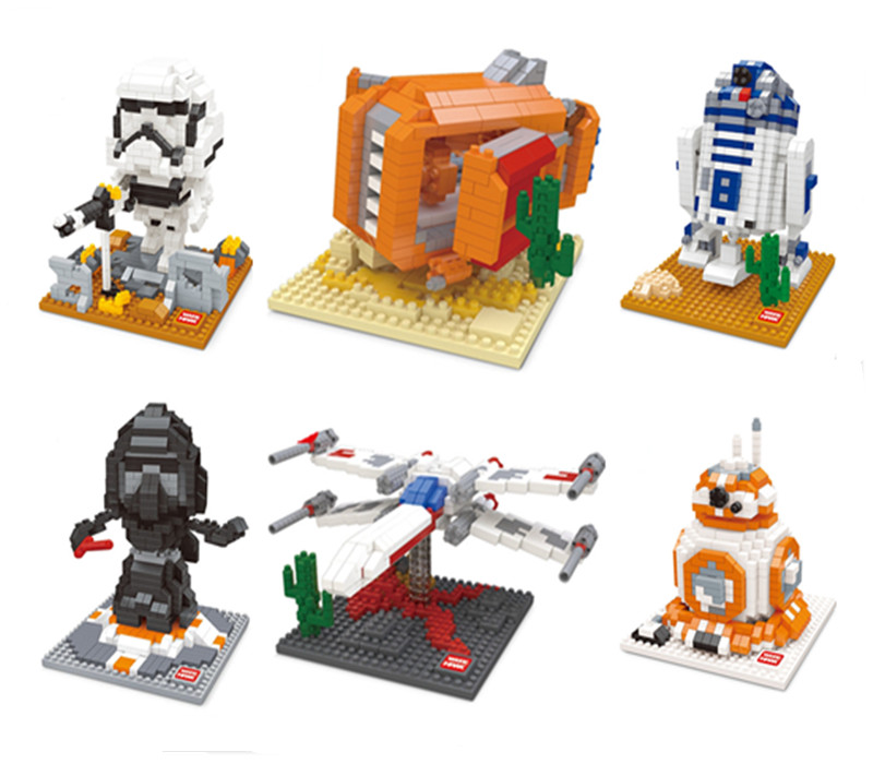 2016 NEW WISEHAWK Blocks Star Wars Minifigure Building Toys & Hobbies Action Figure Miniature Model Plastic Nanoblocks - Keny Toy Kingdom Co.,Ltd store
