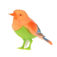 Free Shipping Plastic Sound Voice Control Activate Chirping Singing Bird Funny Toy Gift K5BO(China (Mainland))