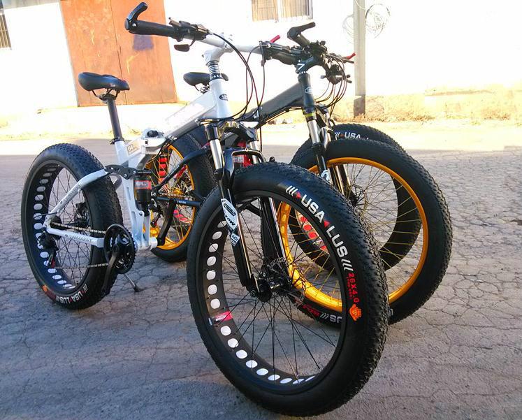 Kalosse Fat bicycle snow mountain bike, bicicleta mountain bike woman, 21/24/27/30 speed,26*4.0 tires