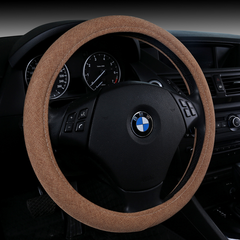 2015 free shipping four seasons general classical steering whee flax wheel cover factory price(China (Mainland))