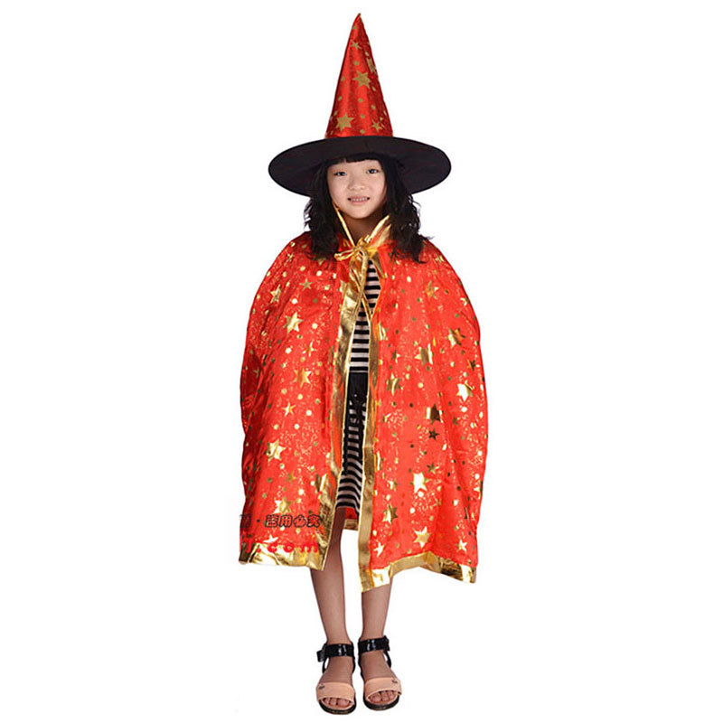 Robe And Wizard Hat: Halloween Costumes Wizard Cloak Gown Robe And Hat 5 Color