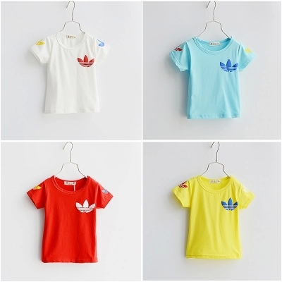 Retail 2015 Summer new Baby Kids boys girls Cotton Shirts short sleeve T-shirt Boys Girls Tops Tees - families paradise store