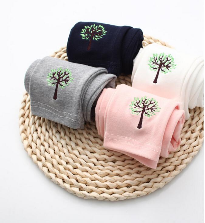 30616120 Wholesale New 2015 Girls Leggings Pants Embroidery Tree Casual Kids Skinny Pants Elastic Waist Pencel Pants Lot<br><br>Aliexpress