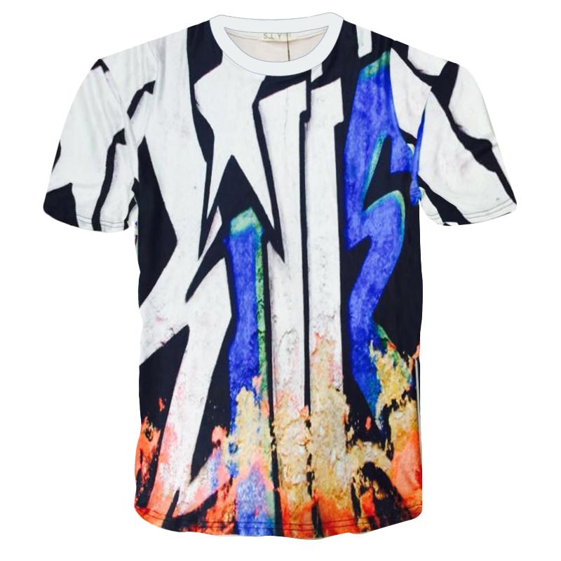 summer 2016 t shirt men latest style of 3d printing bape brand clothing palace skateboards Hip-hop sport T-shirt Free shipping(China (Mainland))