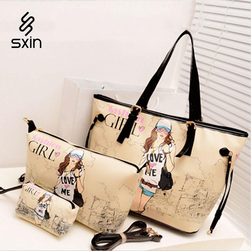 Fashion Style Printing Girl Bag Women Handbag Love Me Bag Ladies Shoulder Bag Leisure Messenger Bag <br><br>Aliexpress