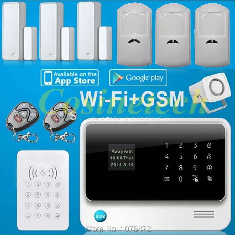 G90b smart home alarm system ios android app controlled for Smart home alarm system