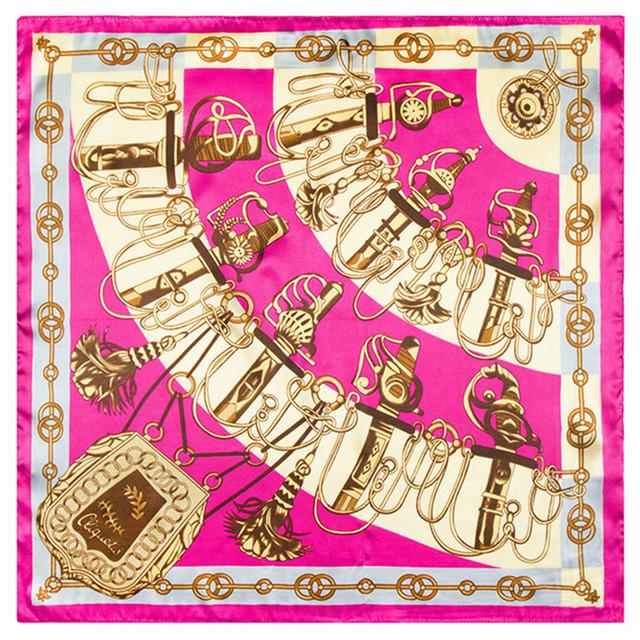 60 см * 60 см классический бренд ч ветер рисунок женщины европейских и американских роскошных сабля седло шаблон небольшой шелковая косынка оптовая продажа