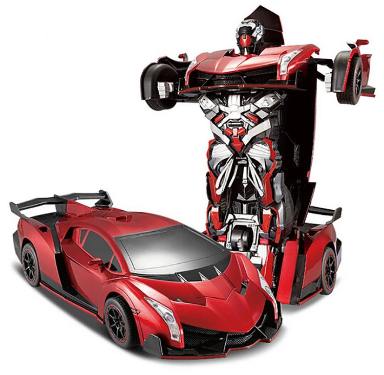 Best Christmas gift 2015 ! Remote control deformation key change toys 4 big car robot boy toy model - FINKRS Bag&Belt Store store