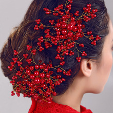 Buy Bridal Decorative Hair Comb Wedding Bridal Glass Red hair combs Flower Hair Handmade Bridesmaid Jewelry Hair Accessories 2017 for $4.33 in AliExpress store