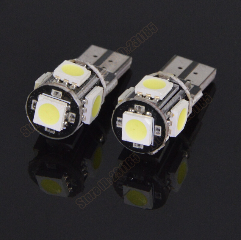 Super Bright Canbus T10 5smd 5050 LED Auto Car 5Led Lamp W5W 194 SMD Error Free White Light Bulbs DC12V - AUTO SUPPLIES SHOP store