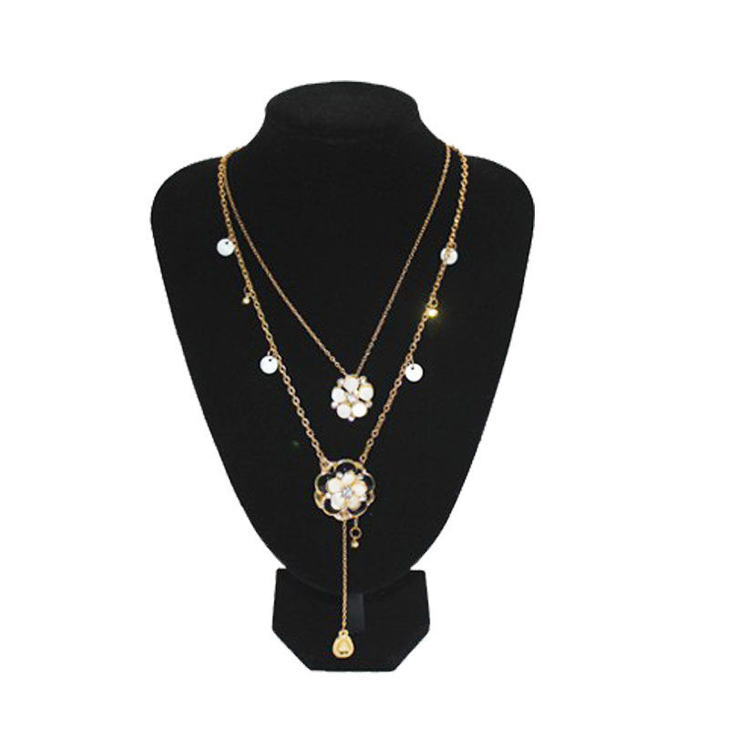 Fashion Black Jewelry Pendant Bust Velvet Necklace Display Stand Holder Show Decorate porte bijoux #55718(China (Mainland))