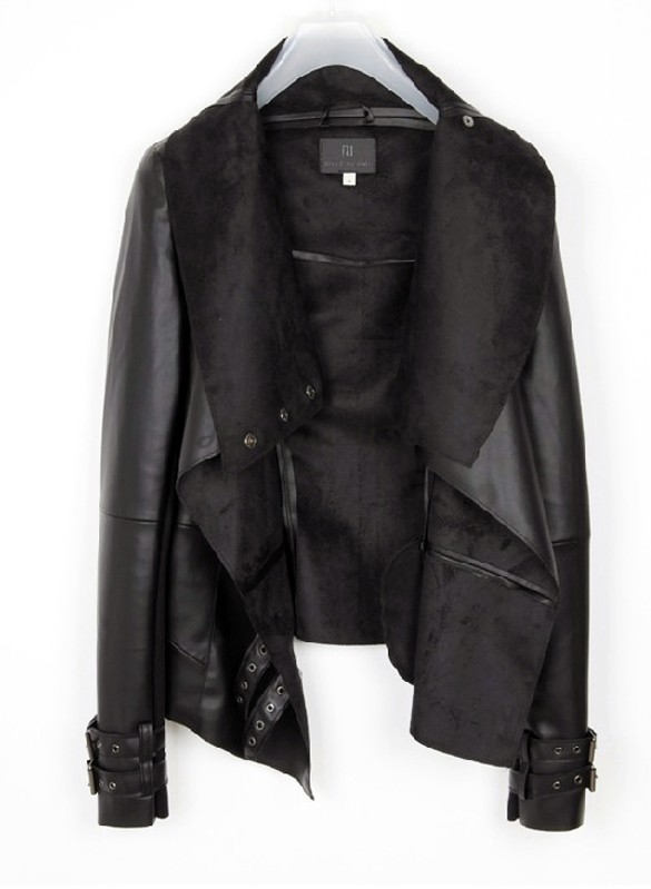 h&m ladies leather jacket
