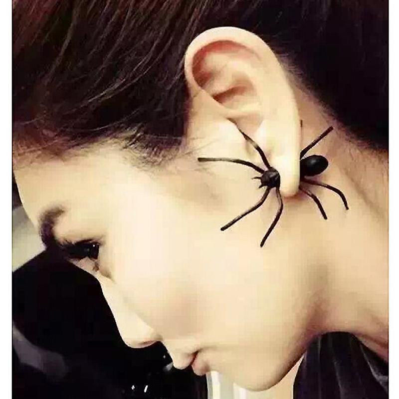 NEW Punk Big Black Spider Stud Earrings for women Fashion Ear cuff Earrings Brincos Bijoux Christmas Gift<br><br>Aliexpress