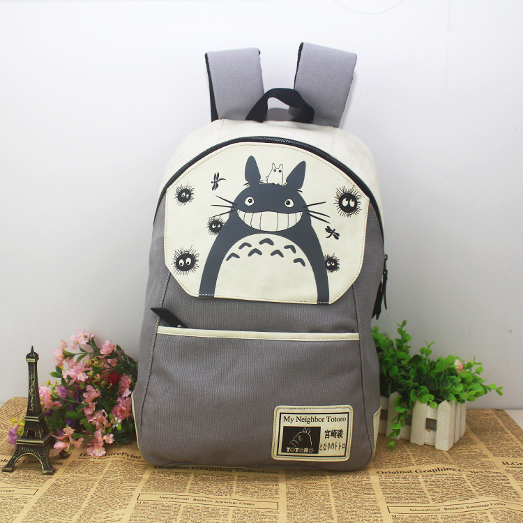 Hot cartoon tokyo ghouls backpack anime naruto totoro travel backpack computer dairly canvas one piece bags 12 different styles(China (Mainland))