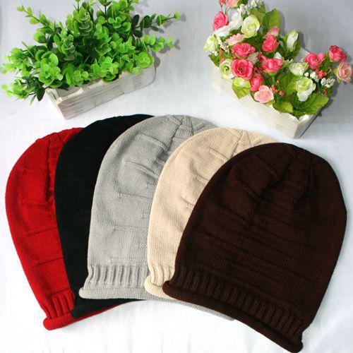 Hot Korean men women fold cap hip-hop cap pile Knit Winter Hat hat tide(China (Mainland))