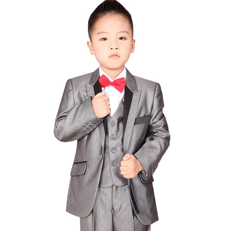 Trend glossy child suit fine lines set childrens clothing male child flower girl slim blazer<br><br>Aliexpress