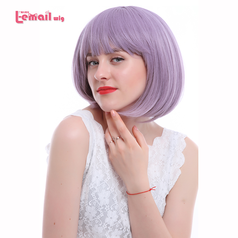 L-email wig 16 Colors Fashion Women Wigs Heat Resistant Synthetic Hair peruca Pink Green Red Purple Blonde Short BOB Cosplay Wig(China (Mainland))