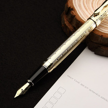 1pcs/lot New arrival Luxury  fountain pen gold clip silver clip optional, fountain pen ink pen for gift packing with gift box