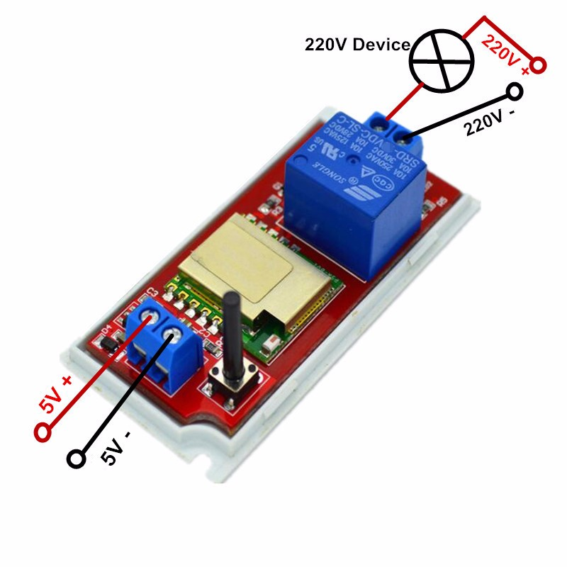 XIND ELE DC 5V WiFi Wireless Smart Switch Module Available choose 1A/2A AC/DC Adapter for Home Automation for Phone Android APP