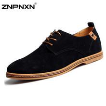 2015 new handmade del cuoio genuino uomo scarpe estive piatto scarpe casual originale di marca degli uomini oxford shoes 7 colori più il formato 38-48(China (Mainland))