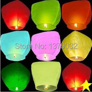 10Pcs KongMing latern Wishing safety Sky Flying Lanterns Fire Light Lamp Wedding Party China's traditional festival supplies(China (Mainland))