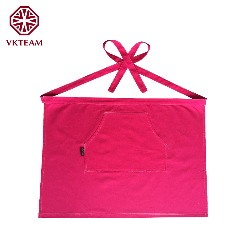 VKTEAM 4 Color Solid Pocket Aprons For Housewife Home Cooking Chef Apron Kitchen Aprons For Woman Cooking Canvas Aprons 58*78CM(China (Mainland))