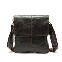 100% Genuine Leather men bags men Messenger bag crossbody Bag men's briefcase vintage shoulder coffer cowhide leather bags 2015