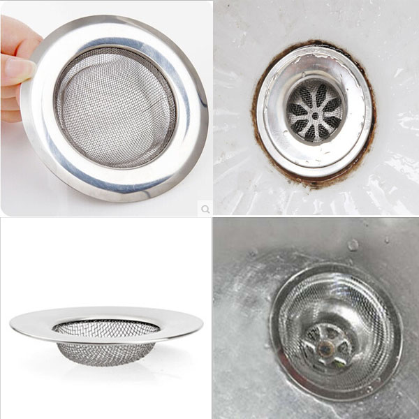 Free Shipping 1x New Useful Convenient Kitchen Toilet Sink Prevent Clogging Sewer Filter Stainless Steel(China (Mainland))