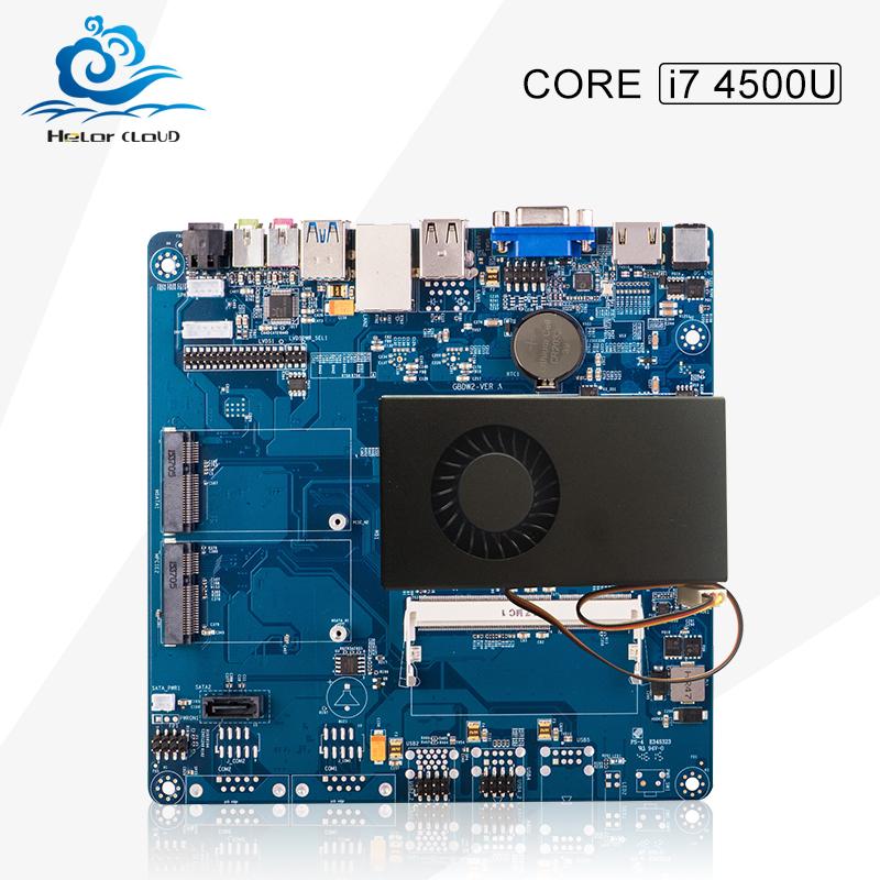 High Quality Mini -itx motherboard core i7 4500U mini desktop computer hdmi+vga usb 2.0 3.0 support customized<br>