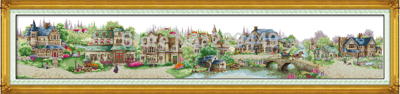 Big Size!European Town Counted Cross Stitch 11CT 14CT DMC Cross Stitch DIY Cross Stitch Kit for Embroidery Home Decor Needlework(China (Mainland))