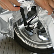 New 2-Side Way Motorcycle Bike Moped Scooter Protection Outdoor Indoor Shield Dust Rain Sunny and Rainy Cover(China (Mainland))