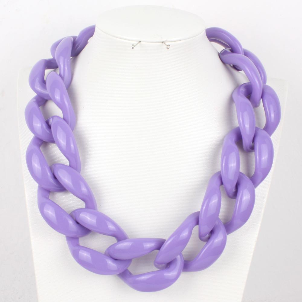 wholesale big chain necklace statement chunky choker necklace acrylic fashion boho chocker party women jewelry bohemian W2290<br><br>Aliexpress