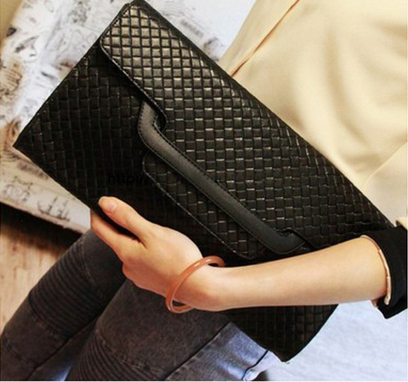 New collection 2015 fashion women brief handbag PU japanned pu leather messenger bag pattern envelope day clutch high quality(China (Mainland))