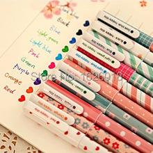 100 pcs/lot цвет гель ручки каваи канцелярские корейский цветок Canetas эсколар papelaria офис материал школа поставки