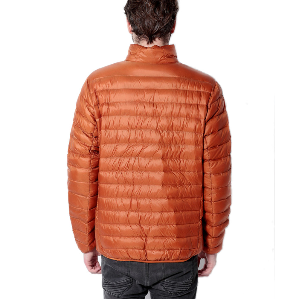 Winter Coat Men Ultra Light White Duck Down Jacket 2015 New Men Stand Collar Portable Parka