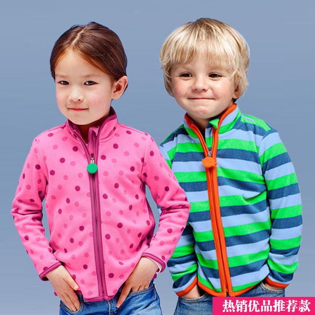 Новый 2016 Весна и Осень Дети Дети Мальчик в девочке толстовки Мальчики девочки полосой руно куртки и пальто дети мальчики толстовка