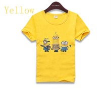 2016 New Baby Boys Girls Cartoon Design despicable me 2 minion Children T-Shirts Children's Clothes Kids Shirts Tees Tops