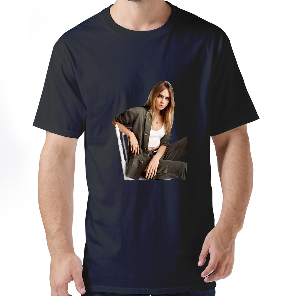 Cotton man s classic cara delevingne t shirts 2015 for Selling t shirts on facebook