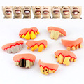 8 different styles Accoutrements Gnarly Teeth Set of 8 Gag Practical Jokes toys Novelty toys for