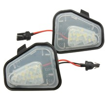Buy Newest 2x 18 LED White Under Side Mirror Puddle Lights For VW for Passat/EOS/CC/E-marked for $7.88 in AliExpress store