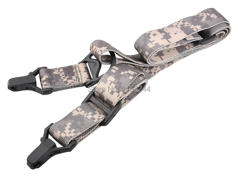 2pcs lot F18 Camouflage Hunting Gun Sling Tactical Hunting Sport Shooting Gun Airsoft 3 Point Adjustable