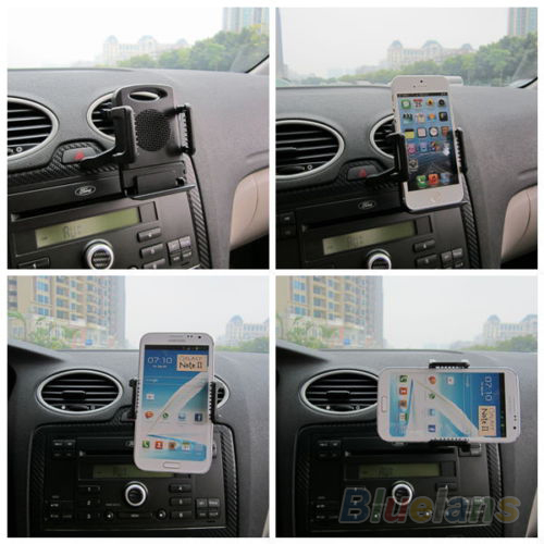 New 360 Car Air Vent Mount Cradle Holder Stand for Mobile Phone Cellphone 01TI