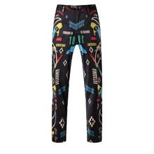 Buy Europe United States men's printed letters new fund 2016 autumn geometry cultivate one's morality suit pants for $56.06 in AliExpress store