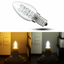 Buy Mini E12/E14 0.5W 6 Leds Candle Lamp Bulb Night Light Pendant Light Wall Lamp Table Lamp Pure/Warm White 120V/220V for $1.89 in AliExpress store