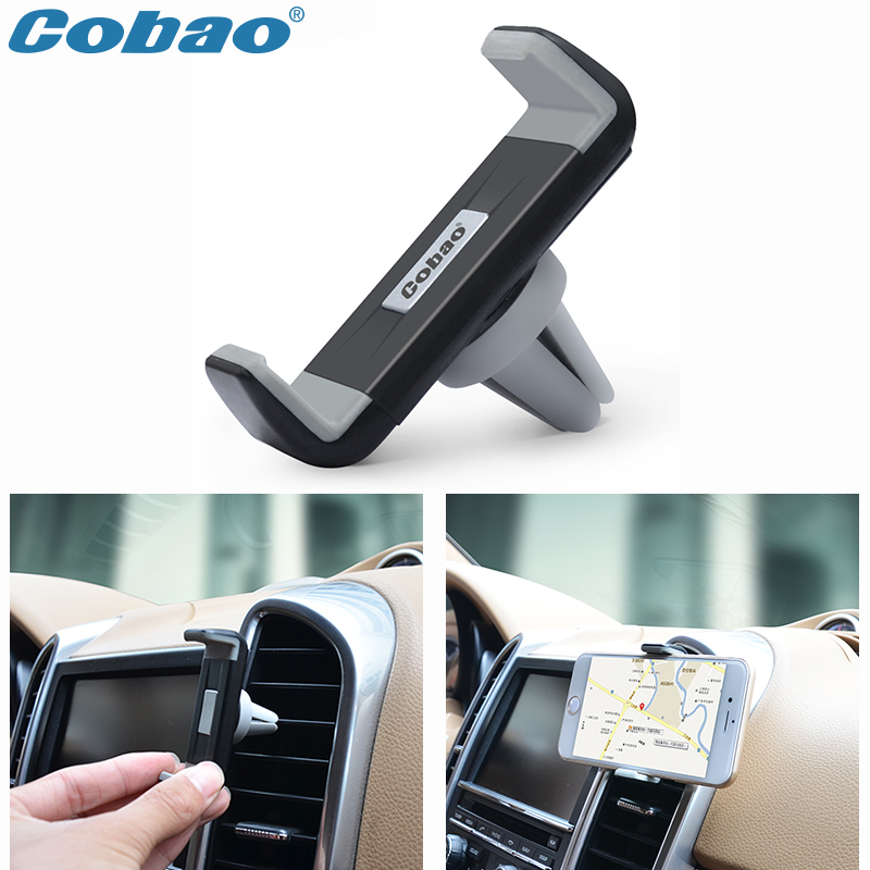 Cobao universal car mobile phone holder air vent mount holder stand for Iphone 4s 5 5s 6 6s plus Galaxy S4 S5 S6 S7(China (Mainland))